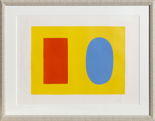 Ellsworth Kelly, 'Orange and Blue over Yellow', 1965, RoGallery