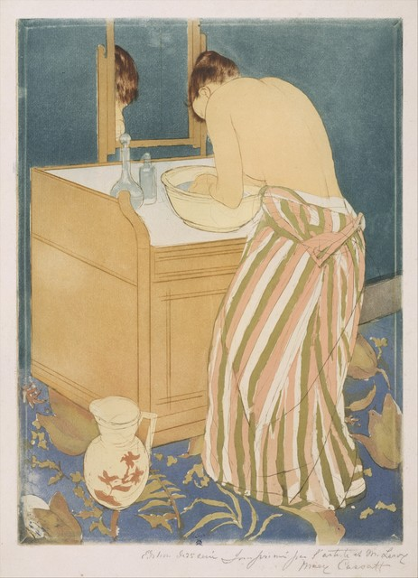 Mary Cassatt, 'Woman Bathing (La Toilette)', 1890–1891, The Metropolitan Museum of Art