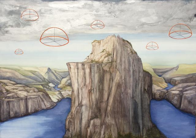 Aleksandar Popovic, 'Endangered Land III', 2017, Painting, Oil and wax on linen, Mizuma & Kips