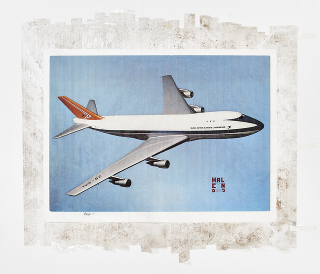 , 'Sticky-tape Transfer 18 - Halcyon Days (or a Boeing 747, pride of the South African Airways),' 2017, Goodman Gallery