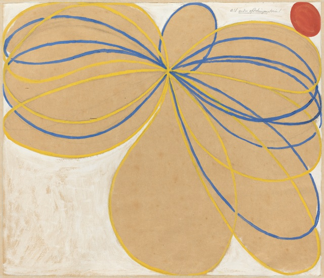 Hilma af Klint, 'Group V, The Seven-Pointed Star, No. 1n (Grupp V, Sjustjärnan, nr 1),  from The WUS/Seven-Pointed Star Series (Serie WUS/Sjustjärnan)', 1908, Painting, Tempera, gouache and graphite on paper mounted on canvas, Guggenheim Museum