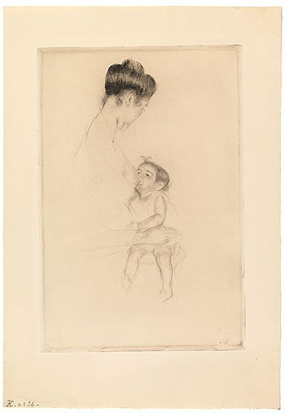 , 'Mother Louise Nursing Her Child,' 1899, Adelson Galleries