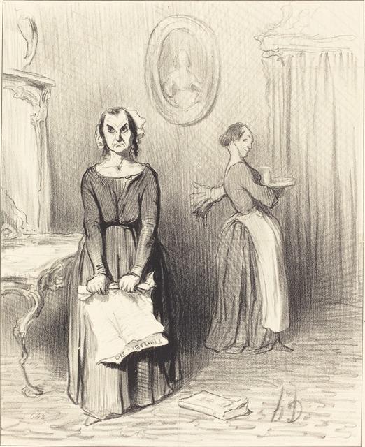 Honoré Daumier, 'Ce Journal trouve mon ouvrage pitoyable...', 1844, National Gallery of Art, Washington, D.C.