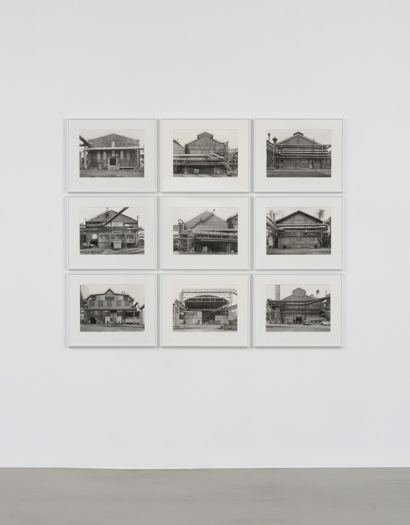 Installation view, Bernd + Hilla Becher, Sprüth Magers, Los Angeles, September 17 - October 21, 2017; Photography by Robert Wedemeyer