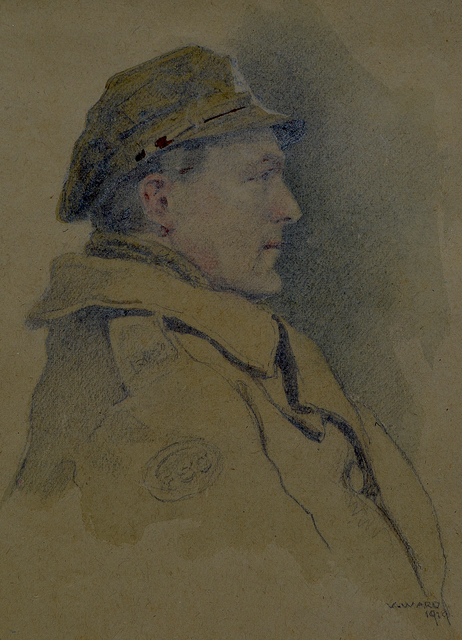 , 'Unknown Officer in Trench Cap,' 1918, Darnley Fine Art