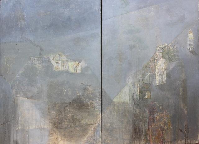 , 'Distant chiming III (diptych) 遙遠的鐘聲之三(雙聯畫),' 2014, ArtCN