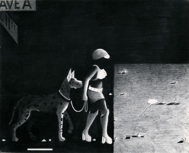 , 'Street Woman with Dog in Shadow,' 1977, P.P.O.W