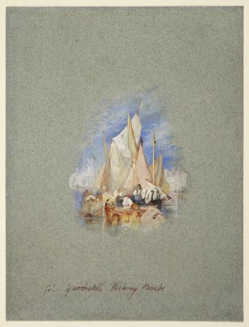, 'Great Yarmouth Fishing Boats,' ca. 1827, Clark Art Institute