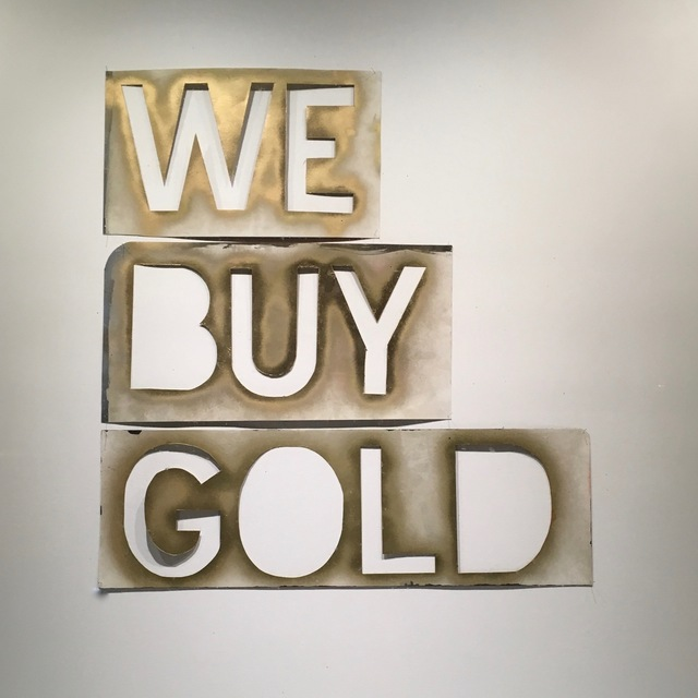 , 'We Buy Gold,' 2015, MARQUEE PROJECTS
