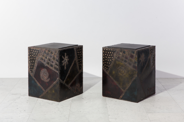 , 'Pair of Custom Welded Steel End Tables,' 1969, Todd Merrill Studio
