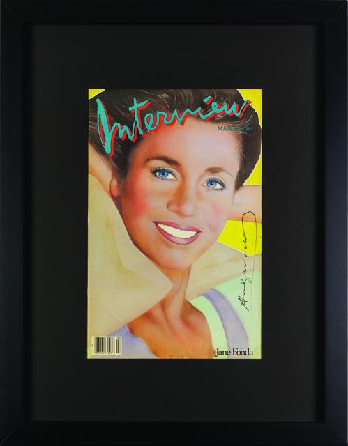 "Andy Warhol, 'Interview Magazine Signed by Andy Warhol ""Jane Fonda"" ', 1984, Print, Rudolf Budja Gallery"