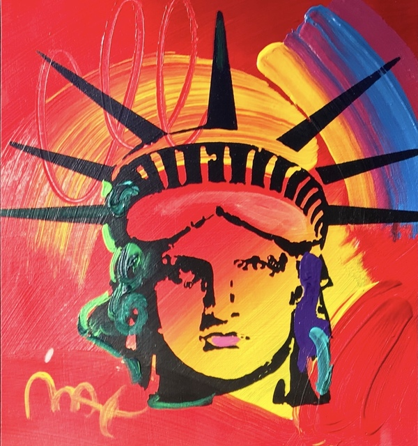 Peter Max, 'lady liberty red',  , David Parker Gallery