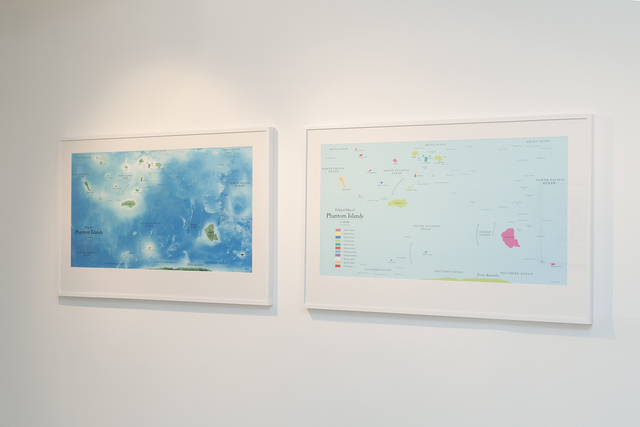 , 'Map of Phantom Islands & Political Map of Phantom Islands,' 2011, Center for Contemporary Art - Tel Aviv