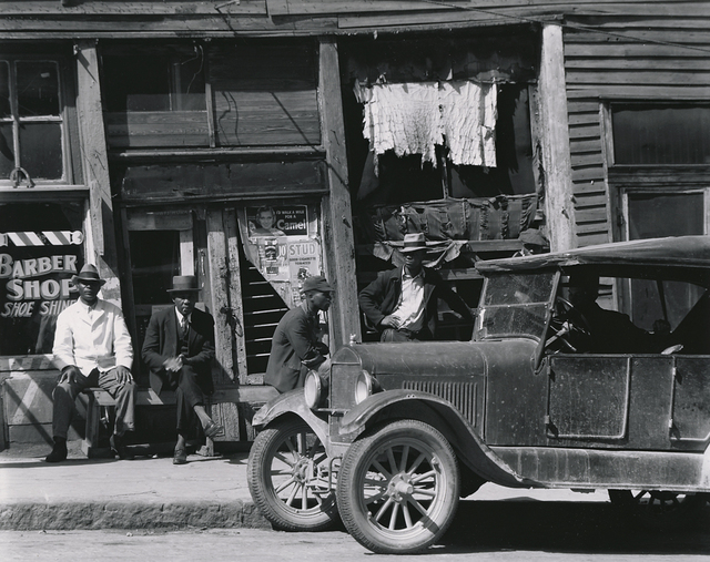 , 'Sidewalk in Vicksburg, Mississippi,' 1936, Richard Moore Photographs