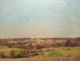 Eugene Leake, 'March Fields and Blue Sky', 1990, C. Grimaldis Gallery