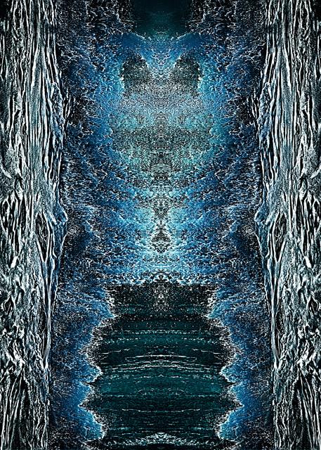 , 'Ocean Graphics (Vertical Blue),' 2017, BlackBook Presents