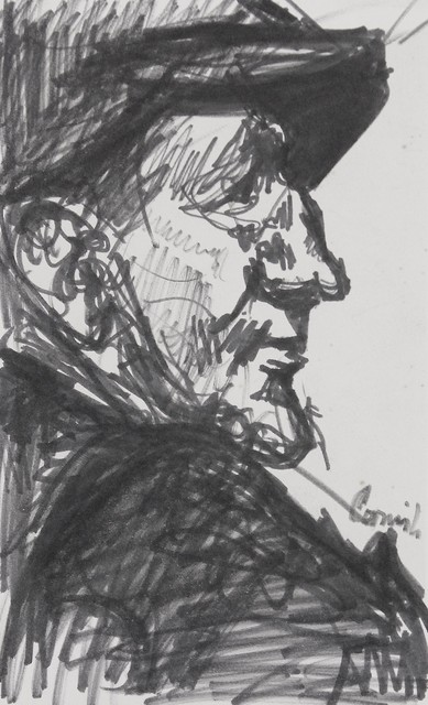 , 'Man in profile,' ca. 1960, Castlegate House Gallery