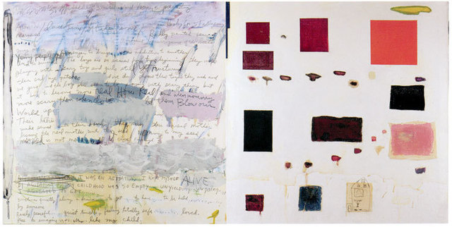 Joan Snyder, 'Free  to Imagine/Like My Child', 1985, Painting, Oil, acrylic, pencil on paper on canvas, Betty Cuningham