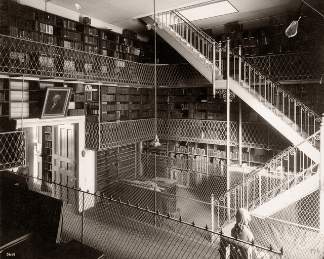 , 'Boston Athenaeum Stacks,' ca. 1901, Panopticon Gallery