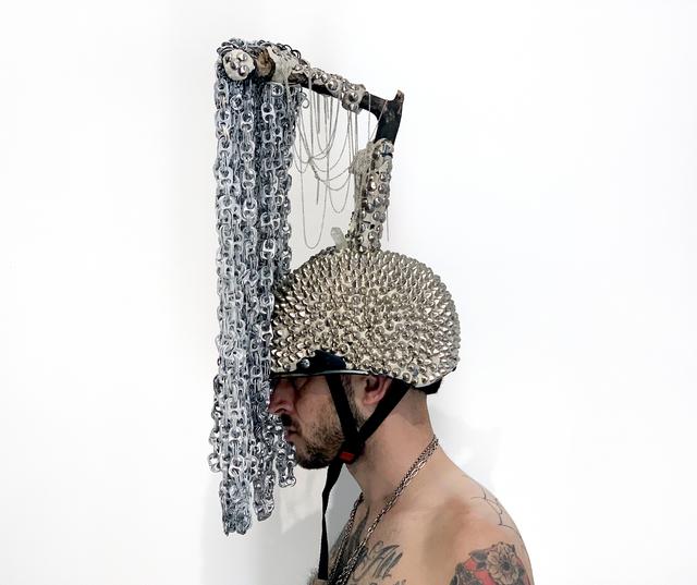 , 'Labyrinth building hand holding helmet ,' 2019, MAIA Contemporary