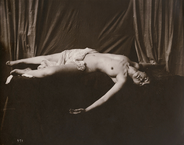 Anonymous Nudes, 'Draped Reclining Female Nude', 1912c/1912c, Contemporary Works/Vintage Works