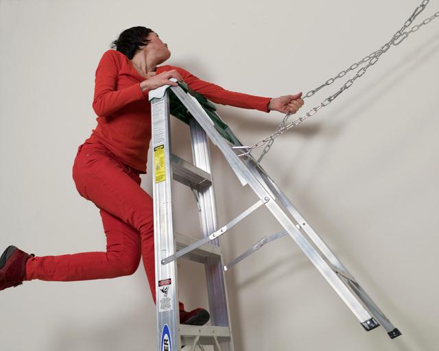 , 'In which F attampts a precarious move,' 2019, Simone DeSousa Gallery