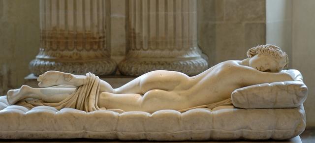 'Sleeping Hermaphroditos, Roman copy of 2nd century B.C. Greek original', 2nd century A.D., Musée du Louvre