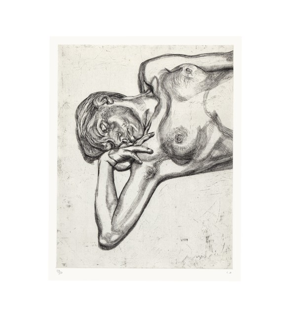 Lucian Freud, 'Head and Shoulders of a Girl', 1990, ARCHEUS/POST-MODERN