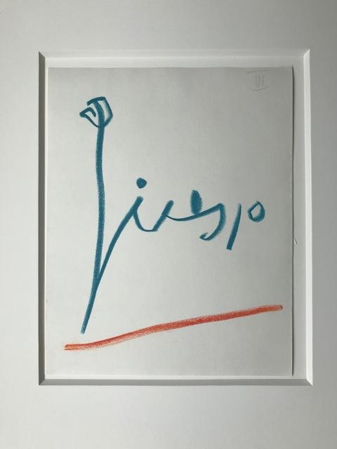, 'Signature - Red & Blue ,' 1965, Fairhead Fine Art Limited