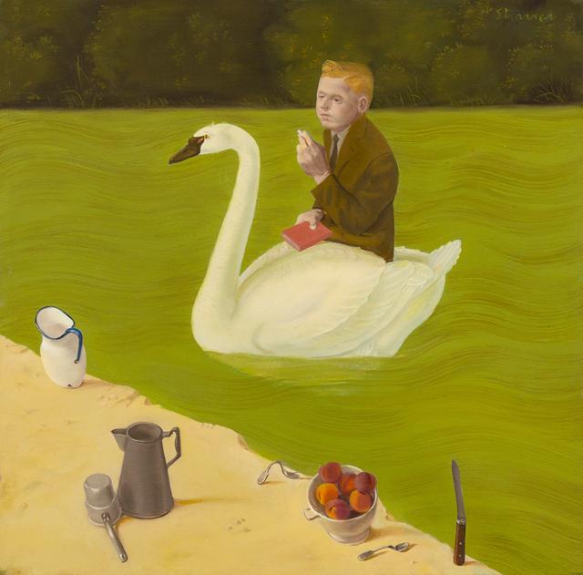 Honoré Sharrer, 'Poet in Swan Boat', 1988, Hindman