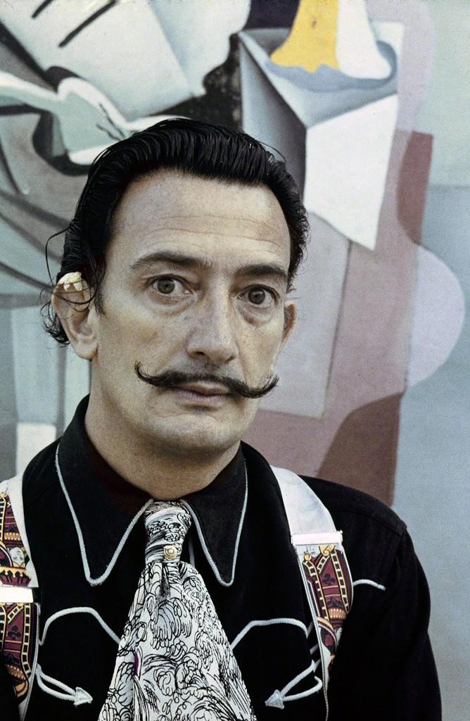 Portrait of Salvador Dalí by photographer Ricardo Sans Ricardo Sans, © Fundació Gala-Salvador Dalí, Figueres, 2017.