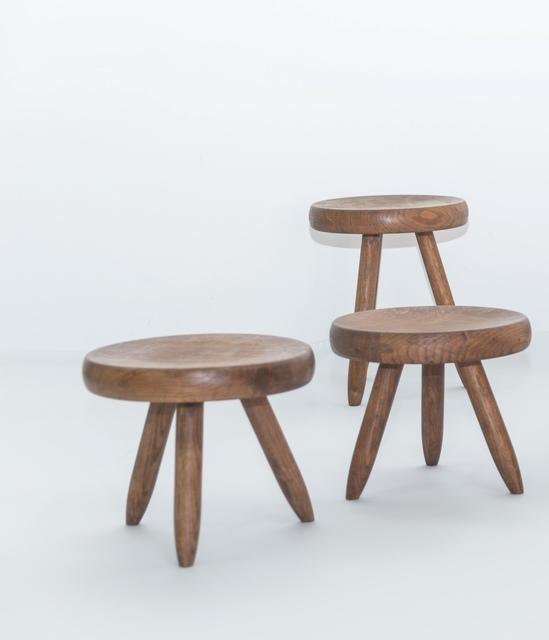 Charlotte Perriand, 'Berger stool in oak', Leclere