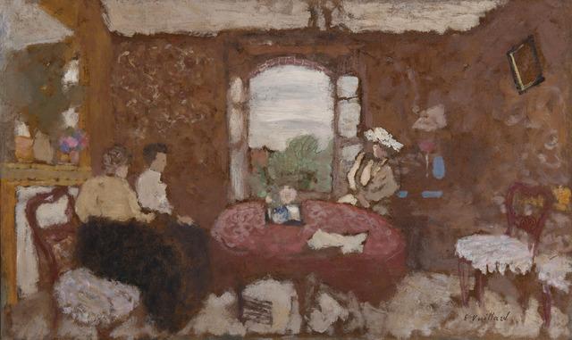 Édouard Vuillard, 'Lucy Hessel en visite chez les Roussel à Cricqueboeuf', 1901, HELENE BAILLY GALLERY