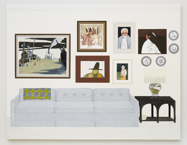 , 'Living Room (six paintings, four plates),' 2015, Fleisher/Ollman