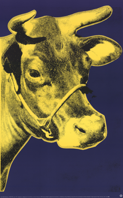 Andy Warhol, 'Cow Yellow on Blue Background (sm)', 2000, Ephemera or Merchandise, Offset Lithograph, ArtWise