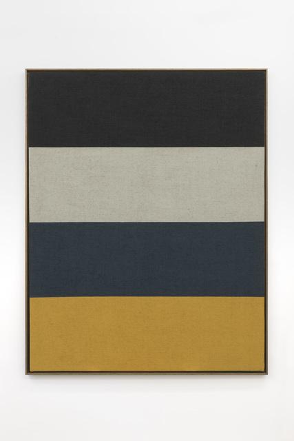 Antonio Ballester Moreno, 'Two Days Horizon (Black, White, Yellow and Blue)', 2020, Painting, Acrylic on jute, Pedro Cera