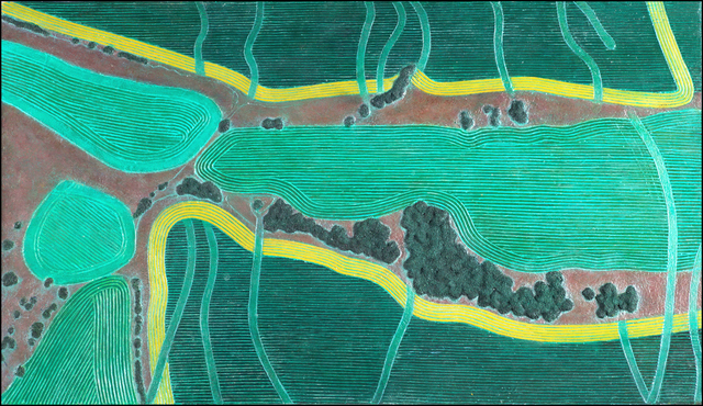 , 'Green Fields with Gold Bands,' , Nüart Gallery
