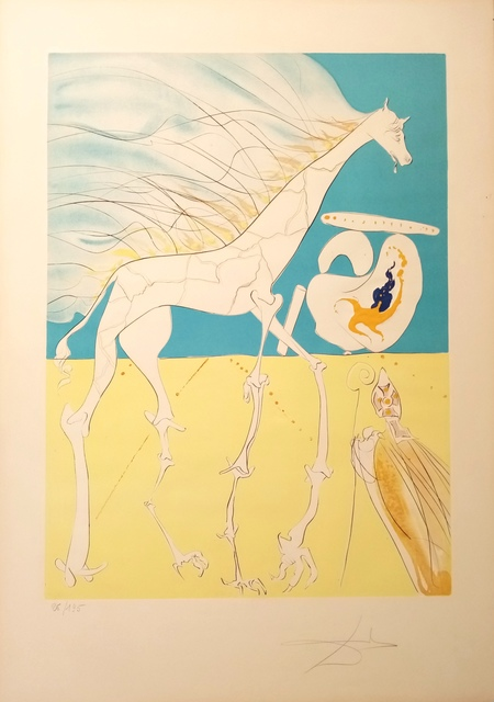 Salvador Dalí, 'Saturnian Giraffe', 1974, Drawing, Collage or other Work on Paper, Original engraving + color, Dali Paris