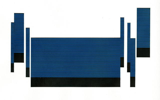, 'Field/Terrace (Cerulean),' 2017, Joseph Nease Gallery