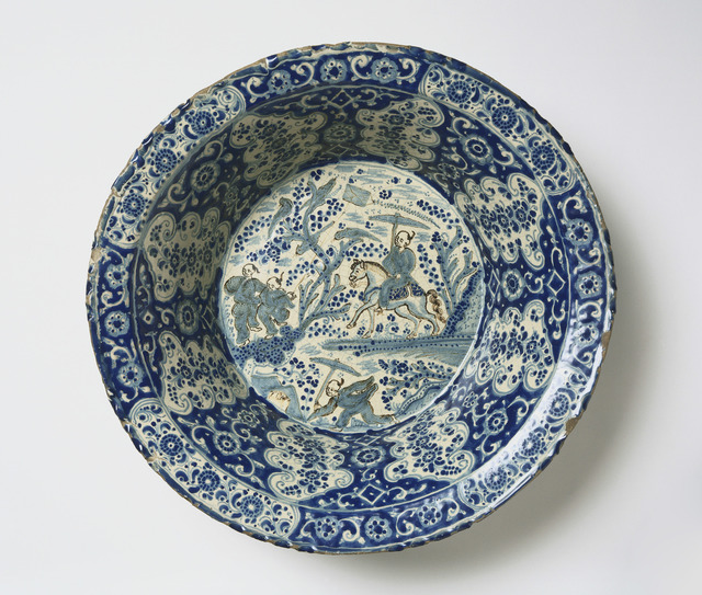 , 'Basin with Landscape in Chinese Style,' Late 17th century, Museum of Fine Arts, Boston