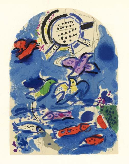 Marc Chagall, 'The Jerusalem Windows: Reuben Sketch', 1962, Print, 20 Color Stone Lithographe, Inviere Gallery