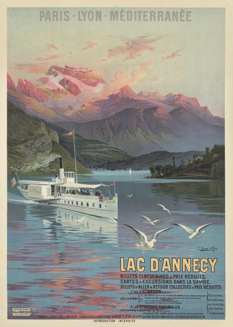 , 'Le Lac d'Annecy / Paris-Lyon-Méditerranée,' 1900, Rennert's Gallery