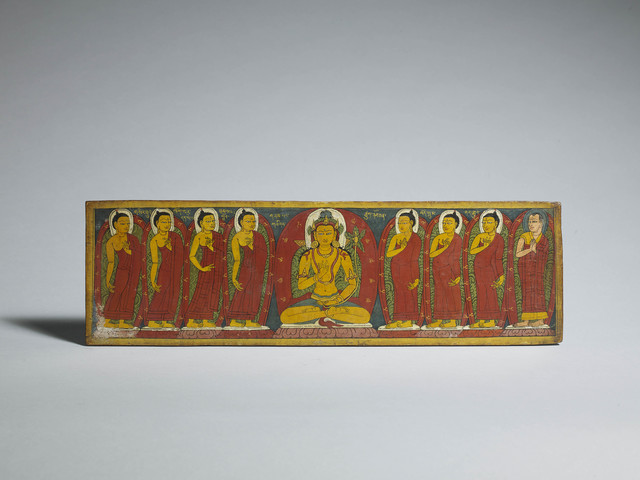 , 'Book cover with Maitreya and the Past Buddhas,' 12th century, Rossi & Rossi