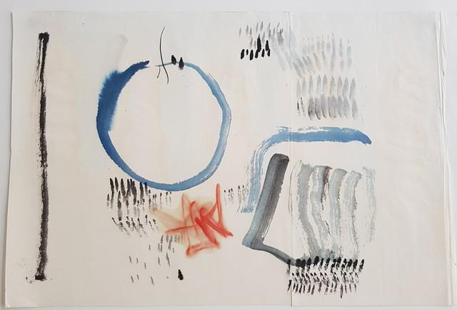, 'dessin au pinceau 4 ,' 1957, Galerie Marie-Robin