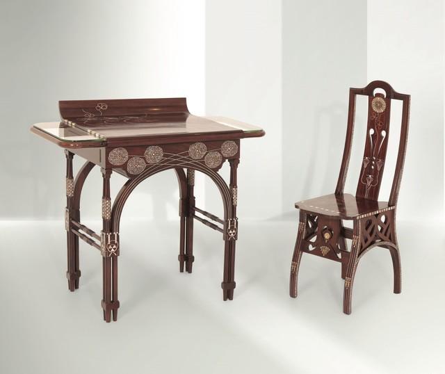 Eugenio Quarti, 'a desk, Italy', ca. 1900, Cambi