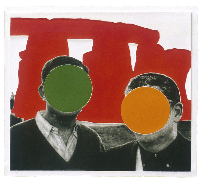 , 'Stonehenge (With Two Persons) Red,' 2005, Mixografia