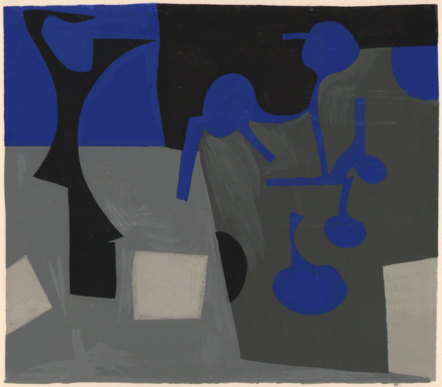 , 'Composition, blue/black/gray,' ca. 1945, Dolan/Maxwell