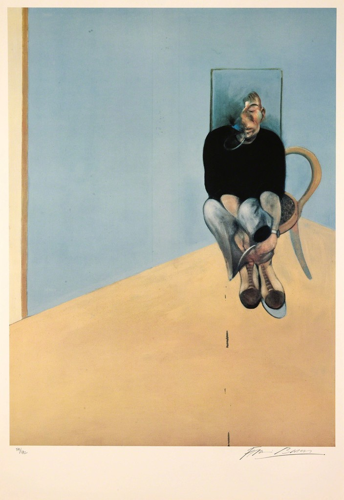 Francis Bacon, Study for Self Portrait 1982 - Offset lithograph 1984, ed. 28 of 182 81.3 × 61 cm