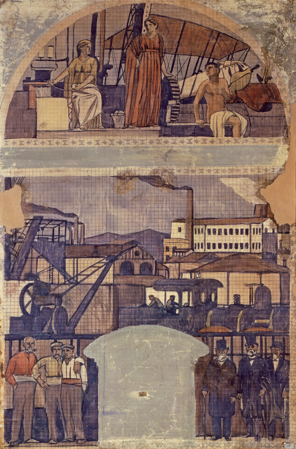 ", 'Design for the fresco ""La Catalunya Industrial"" (The industrial Catalonia),' 1917, The Museum of Modern Art"