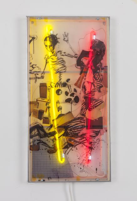 , 'Dance of death miniature panel II,' 2018, Galerie Nathalie Obadia